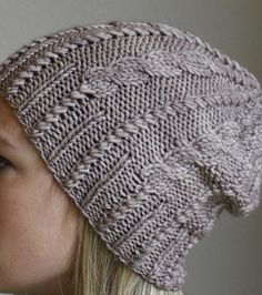 Cables & Twists Beanie by Jamie Sande - Free Knitted Pattern - (ravelry)