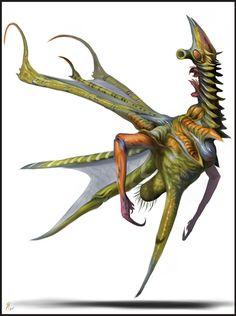 Bizarre #alien... #creature... #thing | Rendered Out Breisnox by Davesrightmind.deviantart.com on @deviantART