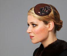 simple glam: chocolate brown headpiece