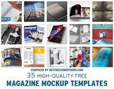 35 Free PSD Magazine MockUps | Best Design Options