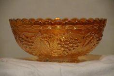 Vintage Fenton Glass Orange Carnival Bowl. Starting at $30