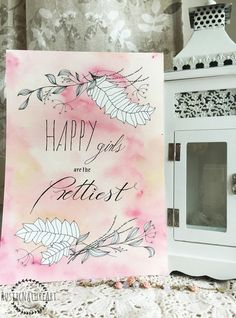 This Girly Quotes Wall Art Print 'Happy Girls are the Prettiest' - Watercolor mixed background color, dark and light pink with a little green and brown touch, Light In The Dark, Wall Art Prints, Wall Art, Colorful Backgrounds, Watercolor Mixing, Art, Colorful Prints