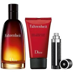 Dior Fahrenheit Eau de Toilette Mens Holiday Fragrance Set ($98) ❤ liked on Polyvore featuring men's fashion, men's grooming, men's gift sets & kits, no color, mens leather travel kit, mens grooming, mens travel kit and mens grooming kit