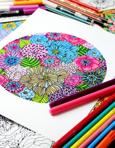A free coloring download from Alisa Burke!