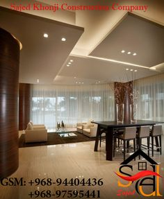 Home Ceiling, Bedroom Ceiling, Modern Ceiling, Ceiling Decor, Office Ceiling, Ceiling Ideas, Ceiling Lighting, Flur Design, Plafond Design