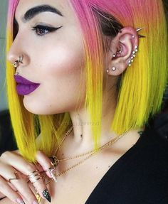 What a terrible shame, your hair is so colourful now. | 28 Reasons Women Shouldn't Dye Their Hair