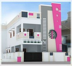 Modern Home Design Tips Ideas India, House Plan, 28 by 32 Sq Ft Plot House Outer Design, House Front Wall Design, Single Floor House Design, Village House Design, Bungalow House Design, Small House Design, Cool House Designs, Modern House Design, Modern House Facades