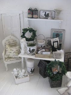 french country miniature display
