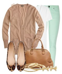 """J Crew Mint Condition"" by coombsie24 ❤ liked on Polyvore featuring J.Crew and jcrew"