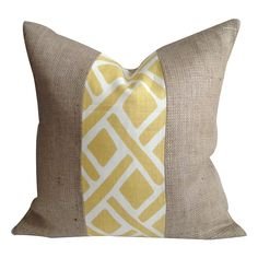 Great way to add accent and pop of color without using your whole cut of fabric. Put stripes on diagonal?