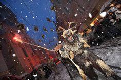 Krampuslauf Graz, Santa's companion in Austrian and Swiss folklore.