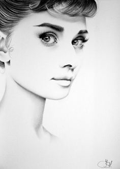 Audrey Hepburn Fine Art Pencil Drawing Portrait by IleanaHunter