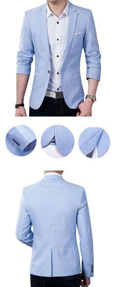 Spring Autumn Fashion Casual Business Slim Fit Best Cool Blazers for Men Mens Fashion Blazer, Suit Fashion, Look Fashion, Trendy Fashion, Fashion Outfits, Fashion Clothes, Fashion Tips, Fashion For Man, Men Blazer
