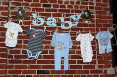 Cute baby shower decorations!