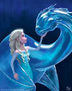 Elsa Game of Thrones by MauricioAbril