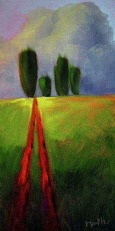 Big Sky Abstract Landscape Art by Nancy Merkle