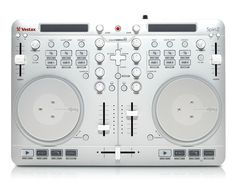 Vestax Spin2 4-Channel DJ Controller - Spin2 is an all-in-one DJ controller designed together with Algoriddim, the creators of the popular music mixing app djay for Mac, iPhone and iPad. Spin2 plug and plays with djay, bypassing complicated setups to immediately mix songs from your iTunes library.