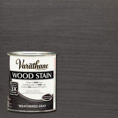 love this grey Varathane 1 qt. Weathered Gray Wood Stain - The Home Depot