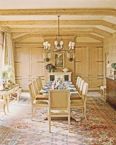 ASPEN HEAVEN- Charlotte Moss | Mark D. Sikes- beams, cabinets