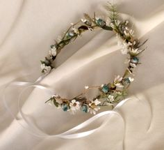 Vintage bride head crowns | Bridal hair accessories Wedding fairy Flower Crown by AmoreBride
