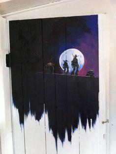 #TMNT Door Art - this is AMAZING!!