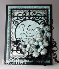 Heartfelt Creations | Teal Botanical Roses