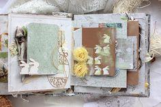 Elena Olinevich: Easter Album - Maja Design and Wycinanka Scrapbook Albums, Mini Albums, Easter, Spring, Frame, Artist, Projects, Cards, Handmade
