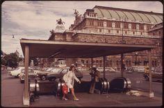 Urban Landscape, Vienna, Austria, Vintage Photos, Classic Style, 1960s, Opera, Vintage Fashion, Street View