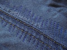Diy Jeans, Como Romper Jeans, Fashion Details, Refashion, Embroidery, Sewing, Pants, Clothes, Recycling