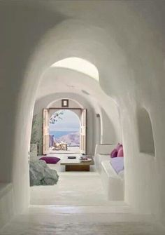 House interior in a Greek Island
