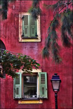 ~Windows, old Nice~ Valbonne, France — Photo by Alla Lora – architecture Nice France, South Of France, Nice Cote D Azur, Nice Ville, Belle France, Cap Ferret, Ivy House, France Photos, Windows And Doors