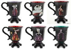 Disney villains coffee mugs. These are so cool!