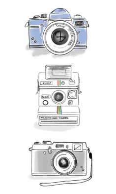 photography drawings, photography graphic design, photography fashion, and photography design art. Camera Drawing, Camera Art, Camera Doodle, Vintage Camera Tattoos, Kamera Tattoos, Camera Tattoo Design, Camera Wallpaper, Drawing Wallpaper, Camera Illustration