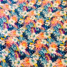 100% RAYON TROPICAL FLORAL - COOL PARADISE - HALF YARD - $7.00 - Handmade Commercial Supplies, Crafts and Unique Gifts by Eureka Fabrics #rayonmaterial #uniquefabrics #thecraftstar #rayonfabric