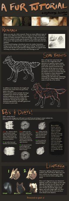 A Fur Tutorial: Part 1 by CoyoteMange.deviantart.com on @deviantART