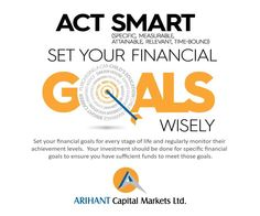 ‪#‎wealthwisdom‬ Act ‪#‎SMART‬, set your financial ‪#‎goals‬ wisely