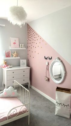 16 Ideas Baby Girl Bedroom Paint Colour For 2019 Girl Decor, Baby Room Decor, Bedroom Decor, Bedroom Ideas, Bedroom Furniture, Mirror Bedroom, Kid Furniture, Plywood Furniture, Bedroom Designs