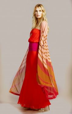 More great colour blocking from one of my new favorites, Haute Hippie