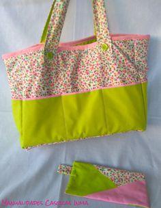 Manualidades Caseras Inma_ Bolsa de Costura y Estuche de flores