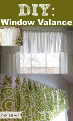 This #PotteryBarn inspired window valance is super easy to make- no sewing required. #homeDIY