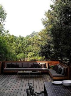 30 Patio Designs with Modern Furniture Interiordesignshome.com Modern patio bench seat