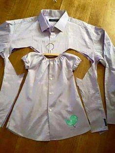Gömlekten Elbise Yapımı , #eskigömlekleriyenileme #eskigömlektenelbise #eskigömlektenneyapılır #gömlektenelbiseyapımı , Eski gömlekleri atmıyoruz. Ne mi yapıyoruz. Eski gömlekten elbise yapıyoruz. Eşinize ait, size ait gömleklerden yepyeni elbiseler yapıyoruz. S...