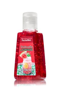 Watermelon Lemonade - PocketBac Sanitizing Hand Gel - Bath & Body Works - This miniature must-have contains natural ingredients and powerful germ killers that keep hands fresh and clean on-the-go with fun fragrance! Bath & Body Works, Bath N Body, Bath And Body Works Perfume, Victoria Secret Body Spray, Best Hand Sanitizer, Watermelon Lemonade, Body Cleanser, Bath And Bodyworks, Body Lotions