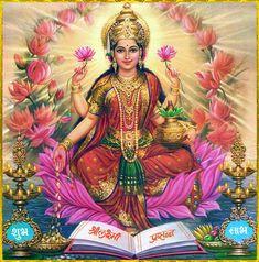 Indian Goddess, Goddess Art, Goddess Lakshmi, Moon Goddess, Mother Kali, Divine Mother, Mother Goddess, Diwali Pictures, God Pictures