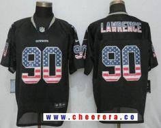 mens dallas cowboys 90 demarcus lawrence black usa flag fashion stitched nfl nike elite jersey