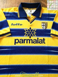 96149c3ce6abe 1998 99 Parma Home Football Shirt (L)