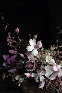 Dark moody floral