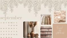 September 2021 Beige Aesthetic Calendar Wallpaper