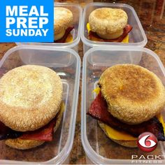 Healthy breakfast sandwiches! Easy to prep and super delicious