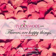 @phoolwool - Flowers are happy things.